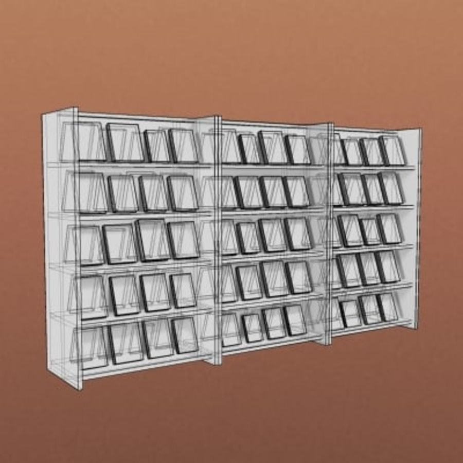 Furniture-Bookcase New Release 002 royalty-free 3d model - Preview no. 2