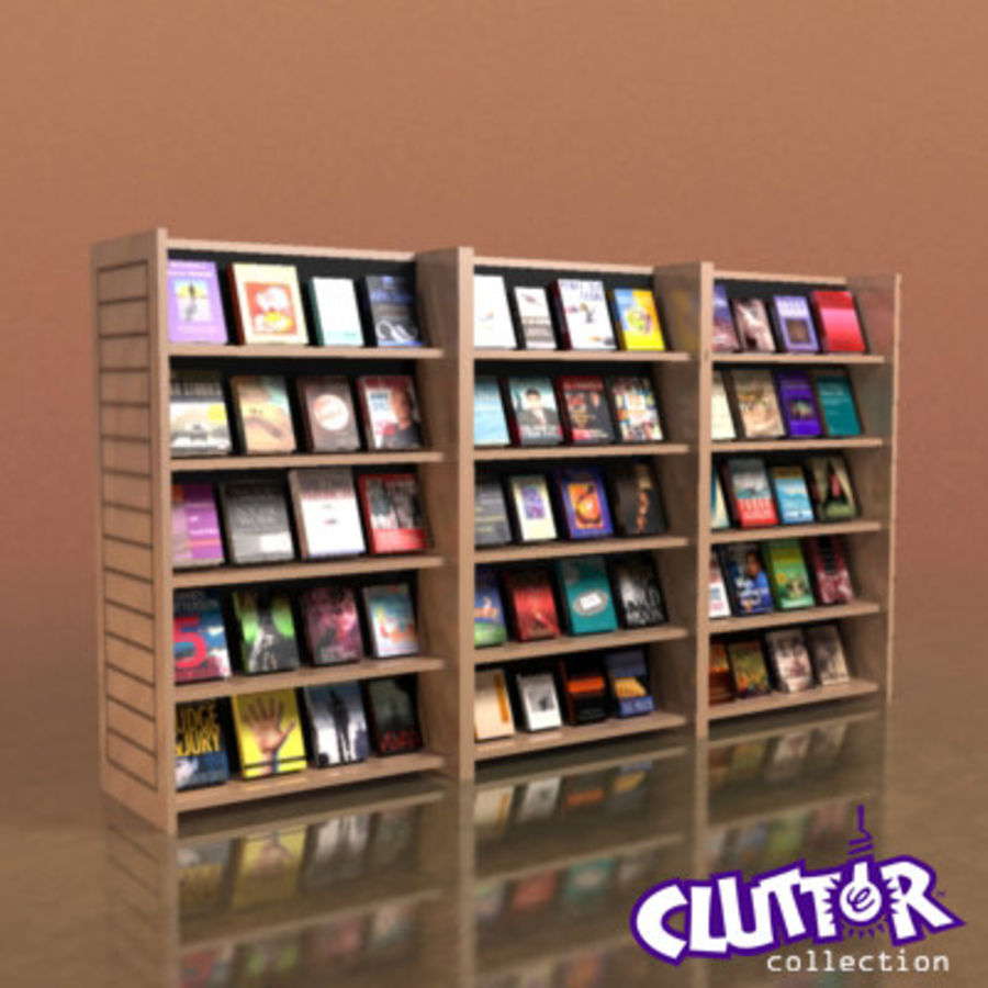 Furniture-Bookcase New Release 002 royalty-free 3d model - Preview no. 1