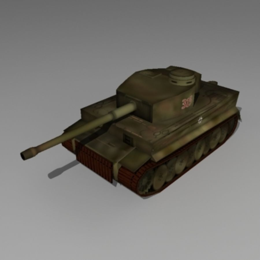 Tank allemand Tigre WW II royalty-free 3d model - Preview no. 1