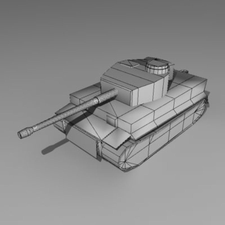 Tank allemand Tigre WW II royalty-free 3d model - Preview no. 2