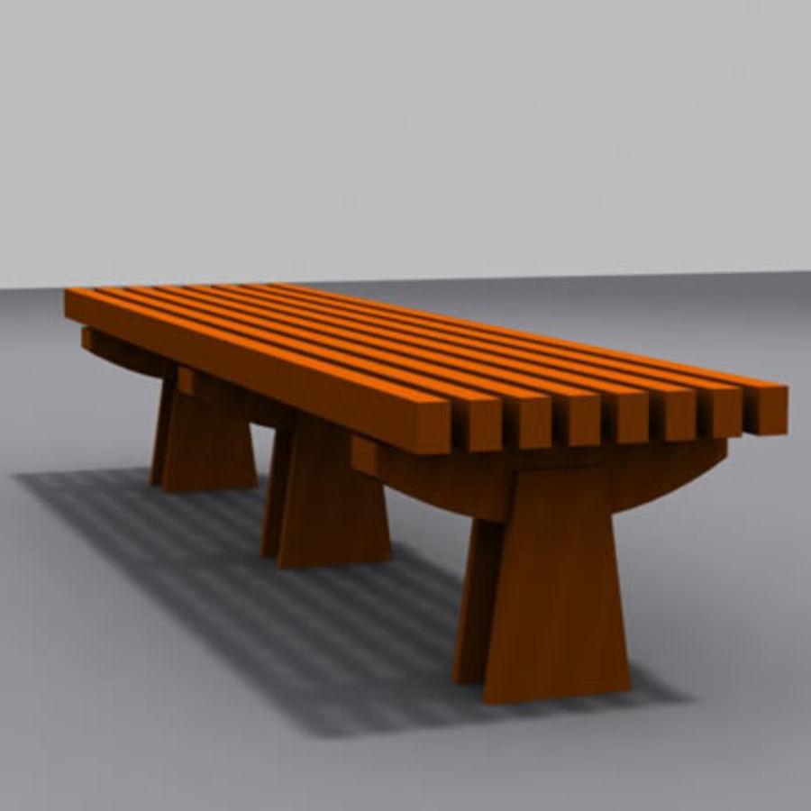 park bench 01 model royalty-free 3d model - Preview no. 1