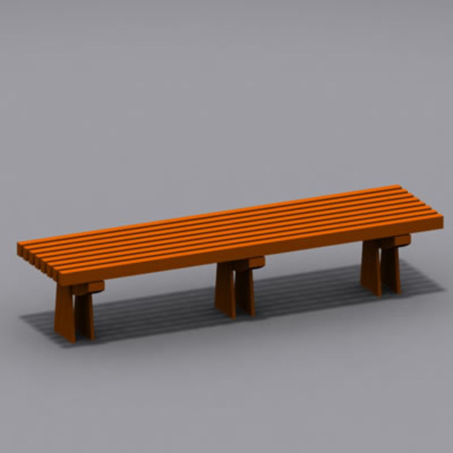park bench 01 model royalty-free 3d model - Preview no. 2