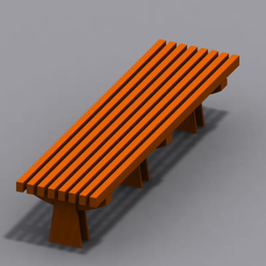 park bench 01 model royalty-free 3d model - Preview no. 3