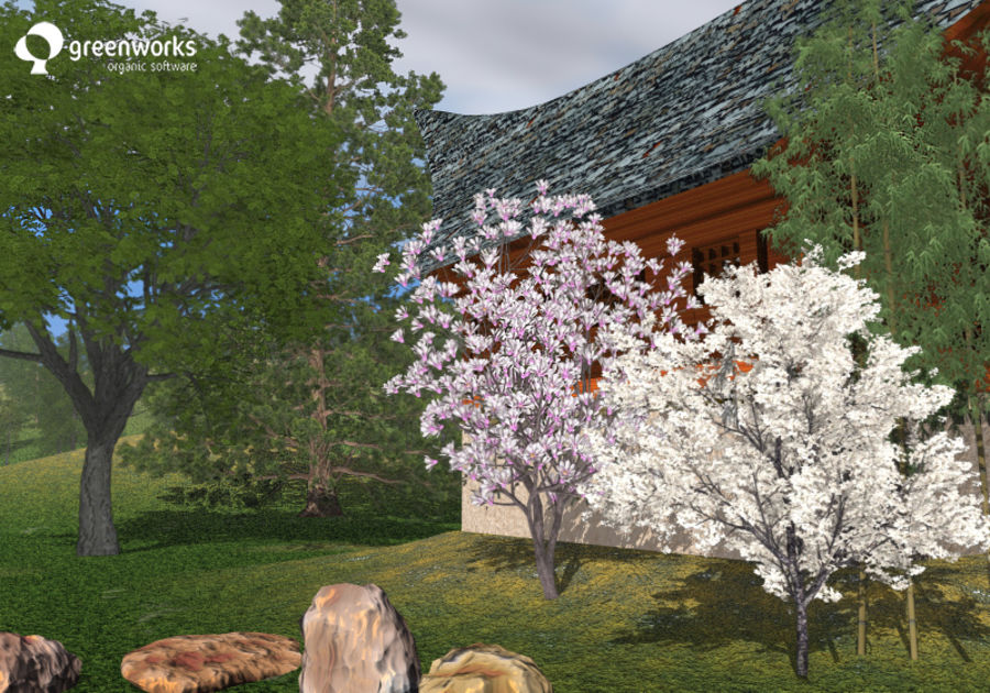 XfrogPlantsビルボード:日本 royalty-free 3d model - Preview no. 1