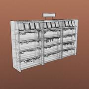 Furniture-Bookcase - Small Library 001 3d model