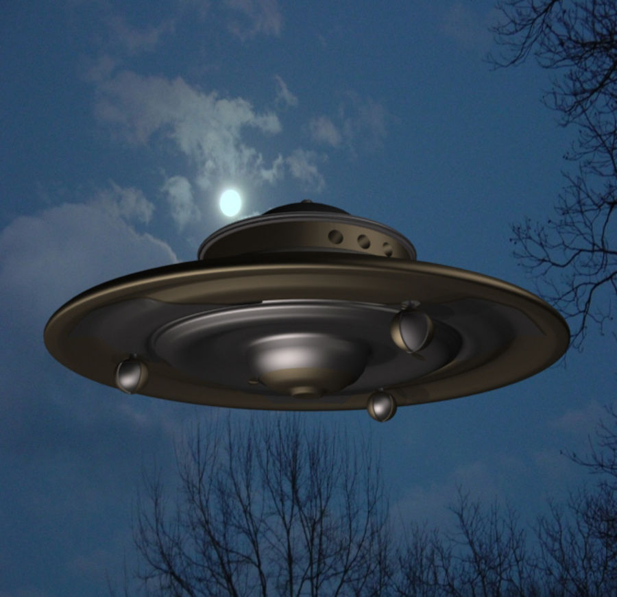 Adamski UFO 3DS royalty-free 3d model - Preview no. 2