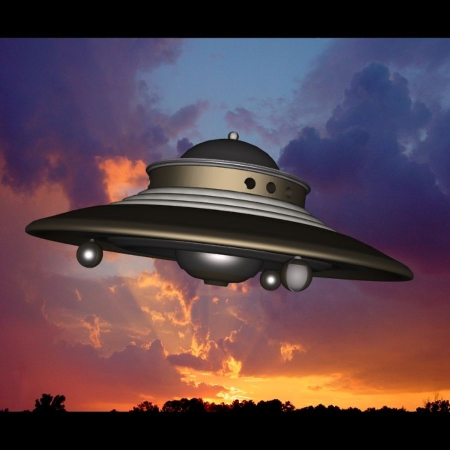 Adamski UFO 3DS royalty-free 3d model - Preview no. 5