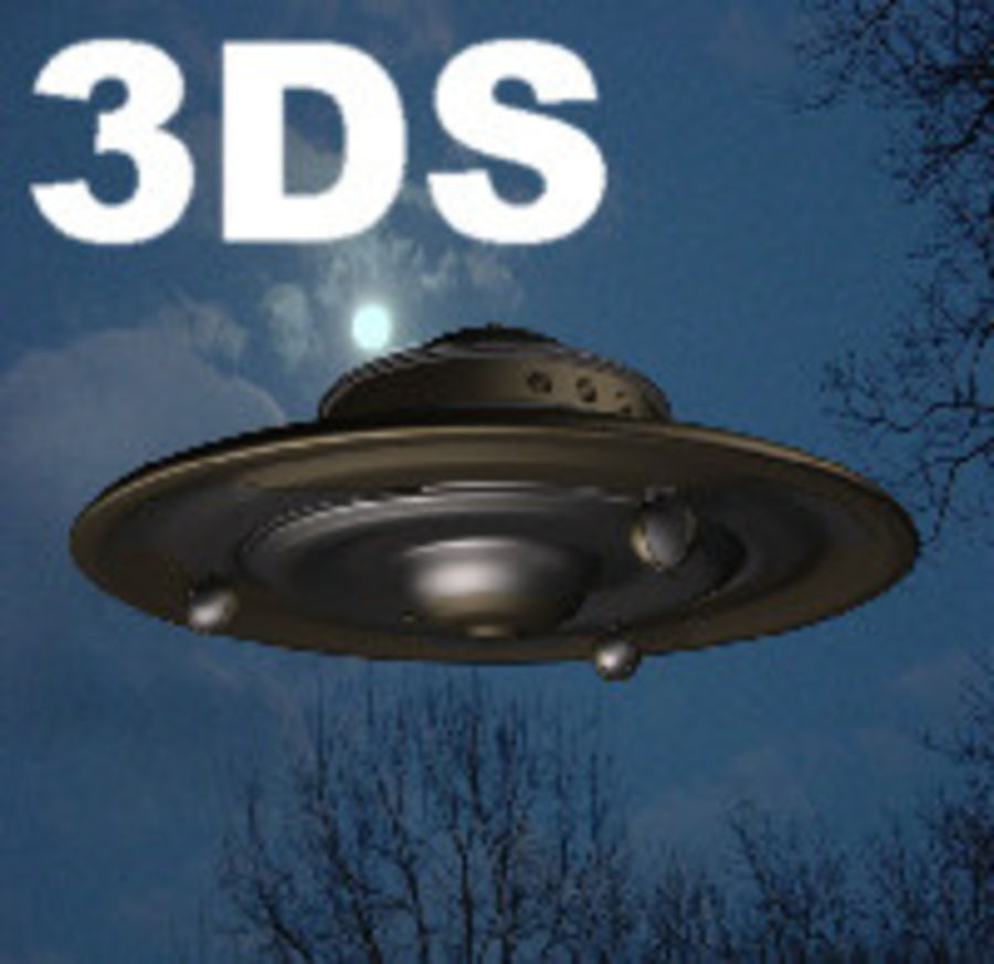 Adamski UFO 3DS royalty-free 3d model - Preview no. 1