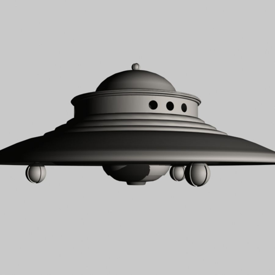 Adamski UFO 3DS royalty-free 3d model - Preview no. 4
