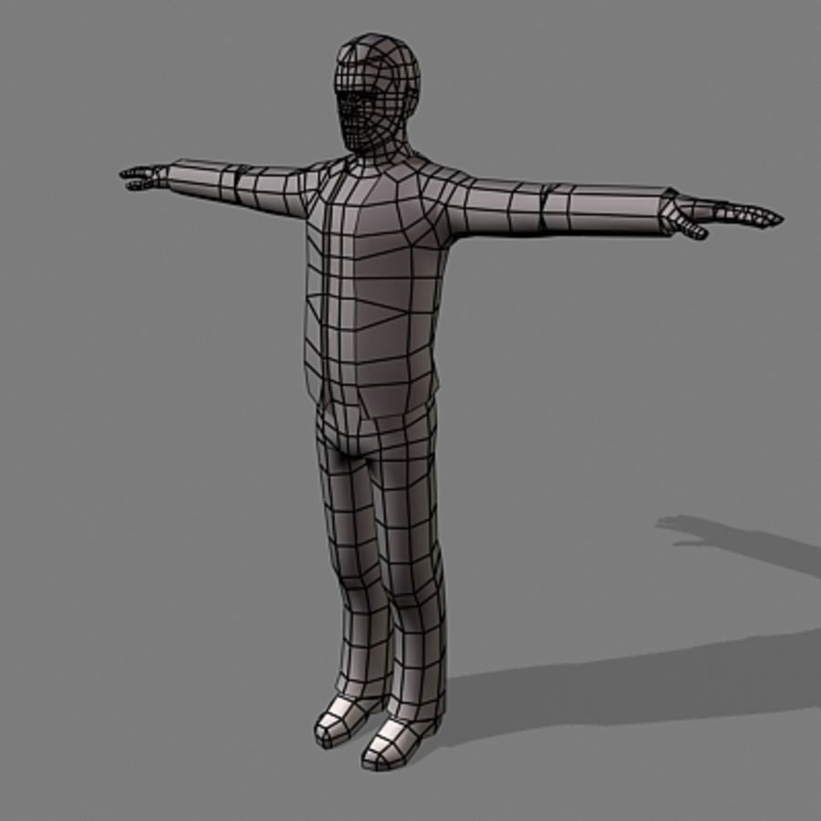 civil man 5 royalty-free 3d model - Preview no. 3