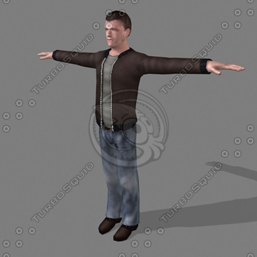 civil man 5 royalty-free 3d model - Preview no. 1