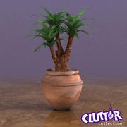 Decor-Potted Palm 001 3d model
