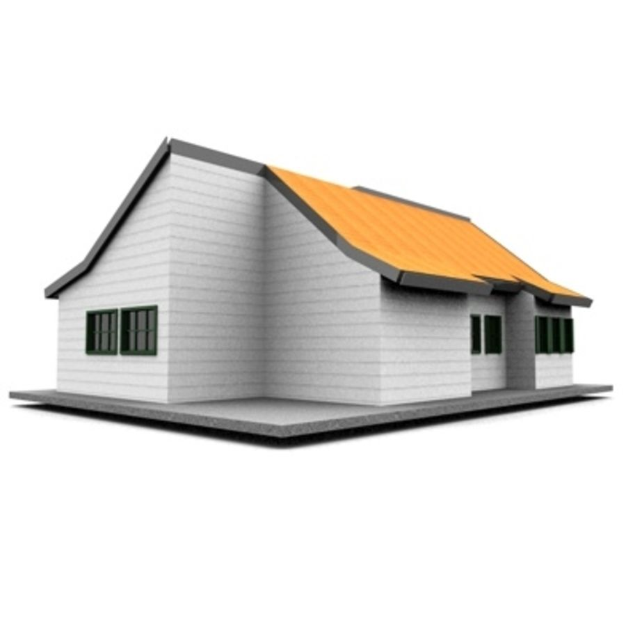 American Neighborhood house 11 royalty-free 3d model - Preview no. 4