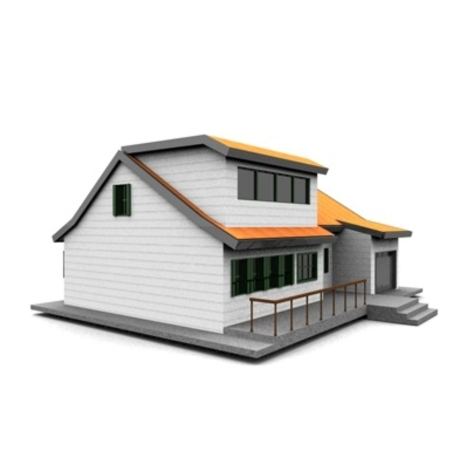 American Neighborhood house 11 royalty-free 3d model - Preview no. 3