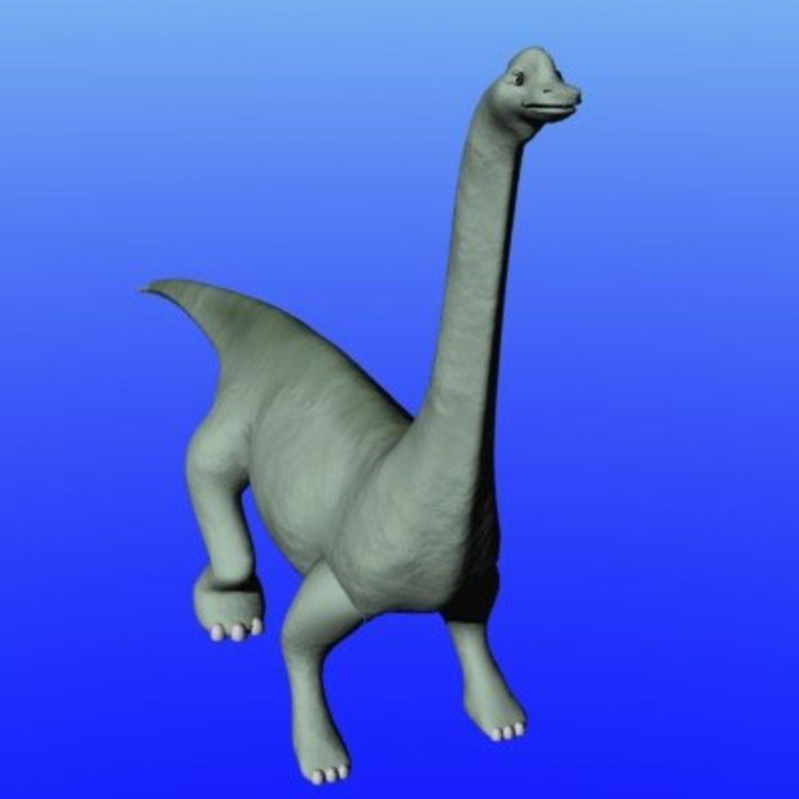herbivore dinosaur royalty-free 3d model - Preview no. 2