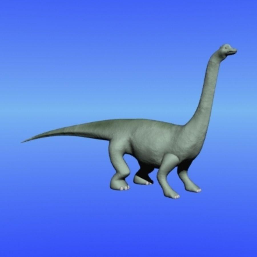 herbivore dinosaur royalty-free 3d model - Preview no. 1