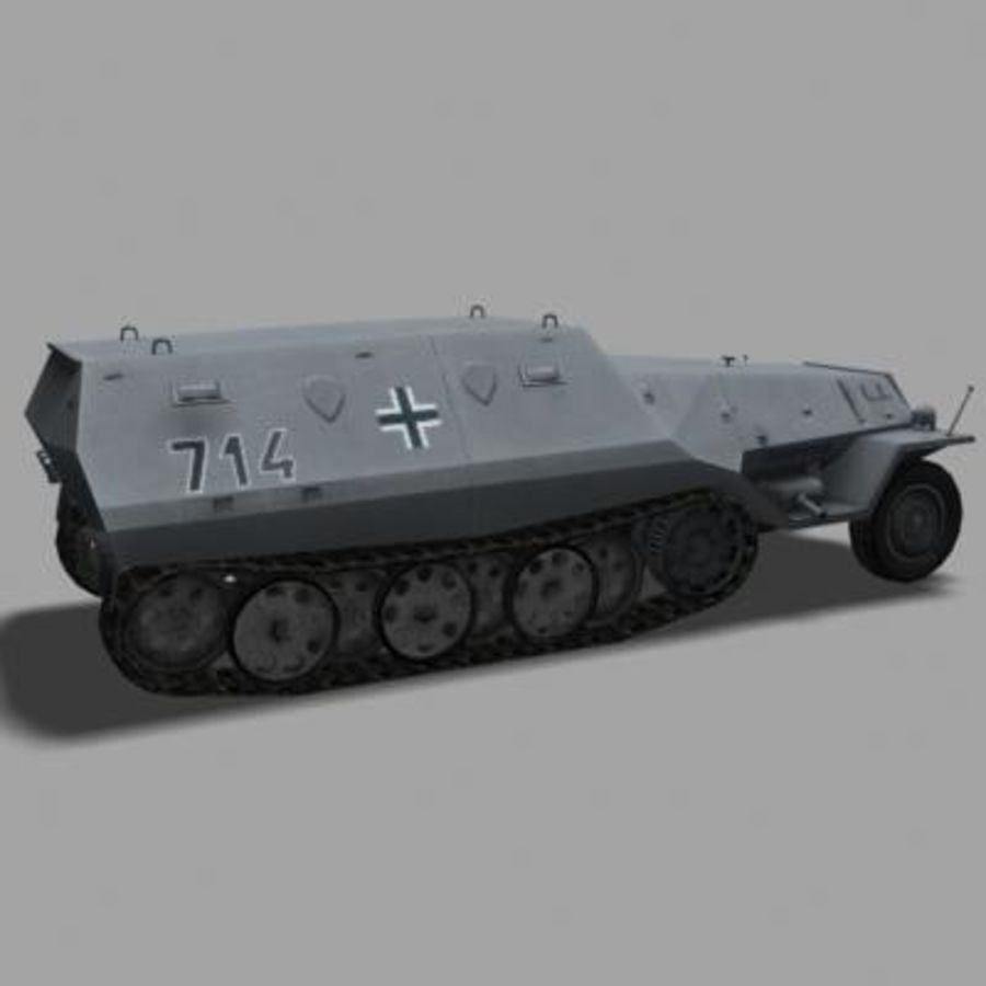 sdkfz250.zip royalty-free 3d model - Preview no. 4