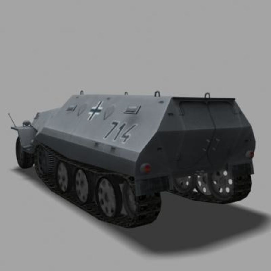 sdkfz250.zip royalty-free 3d model - Preview no. 5
