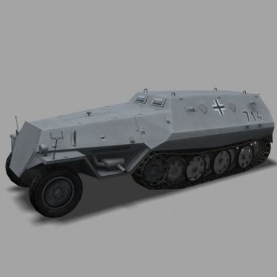 sdkfz250.zip royalty-free 3d model - Preview no. 1