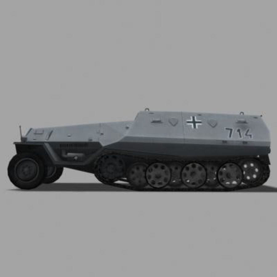 sdkfz250.zip royalty-free 3d model - Preview no. 6