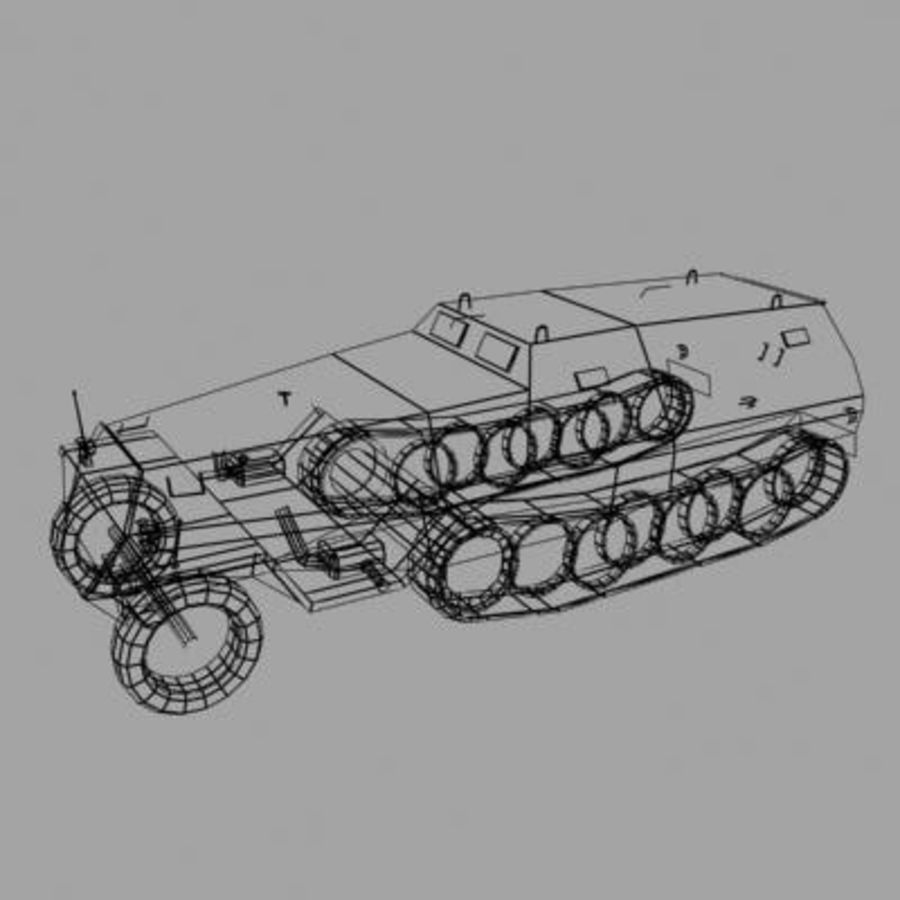 sdkfz250.zip royalty-free 3d model - Preview no. 11