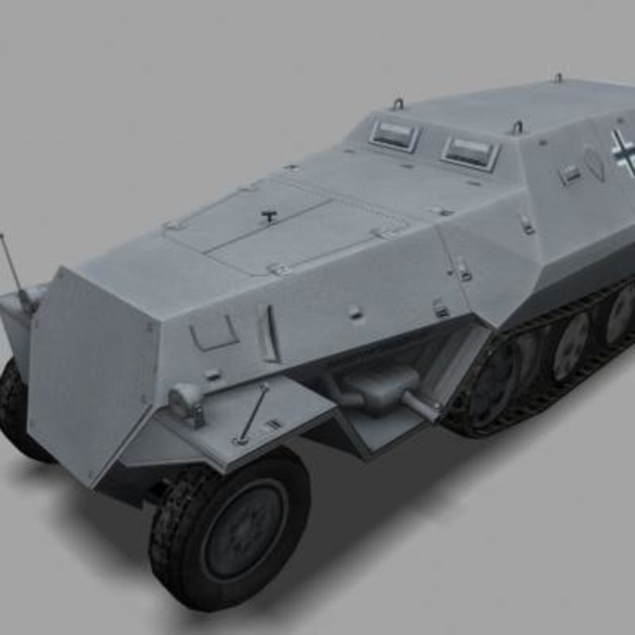 sdkfz250.zip royalty-free 3d model - Preview no. 8