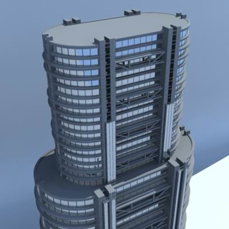 Bâtiments de la ville royalty-free 3d model - Preview no. 6