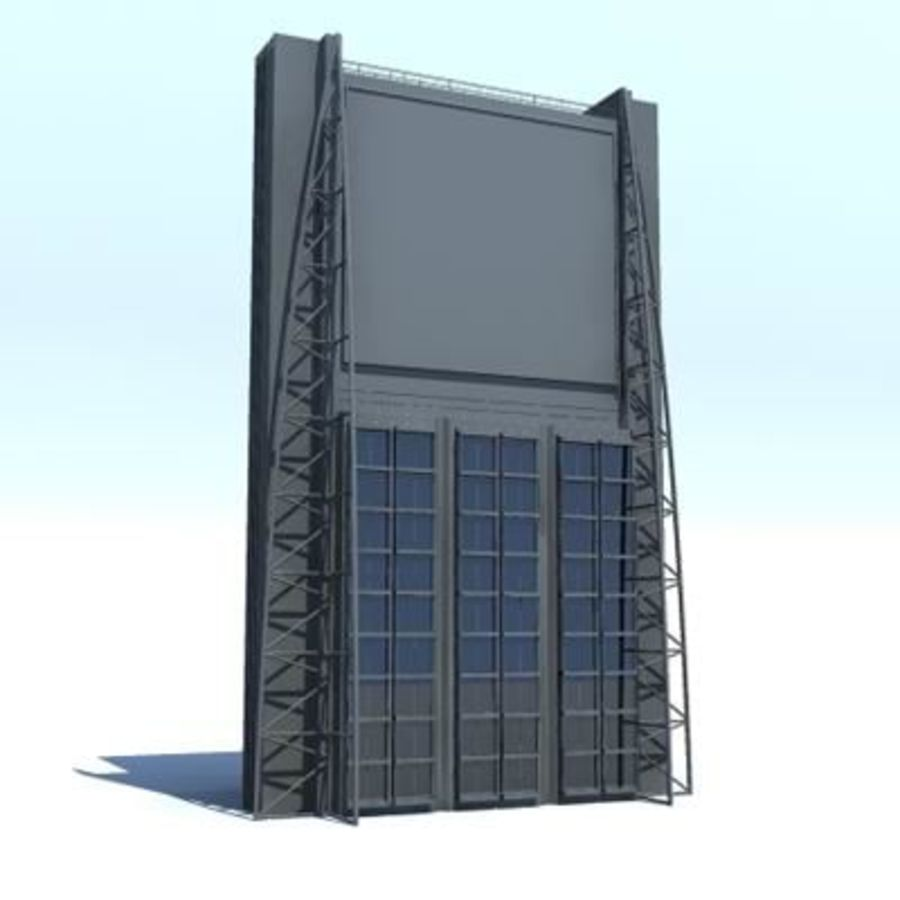 Bâtiments de la ville royalty-free 3d model - Preview no. 7