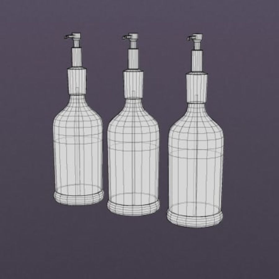 Food-Syrup Mixers 001 royalty-free 3d model - Preview no. 2