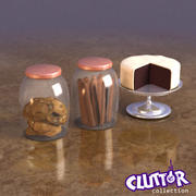 Food-Cookies and Cakes 001 3d model