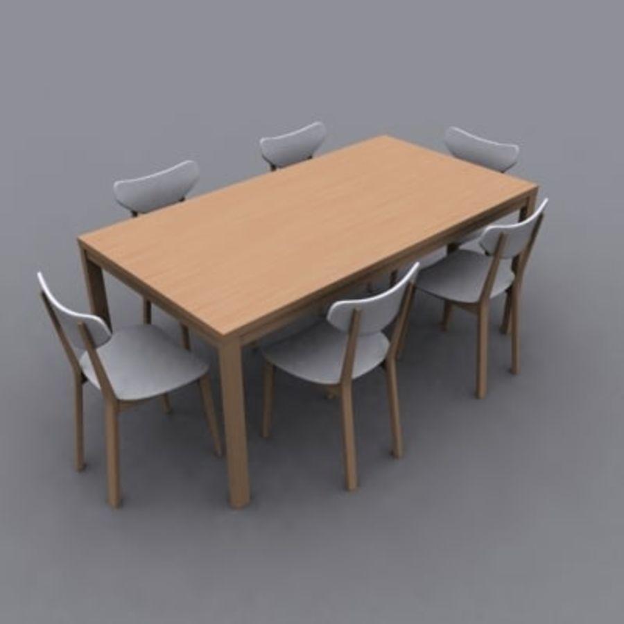 Set da pranzo royalty-free 3d model - Preview no. 1