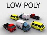 Low Poly Nissans 3d model