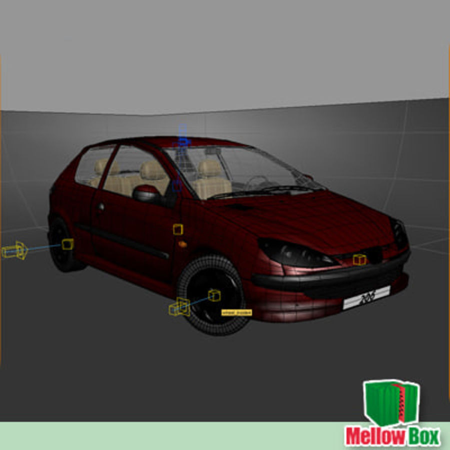 Peugeot 206 royalty-free 3d model - Preview no. 13