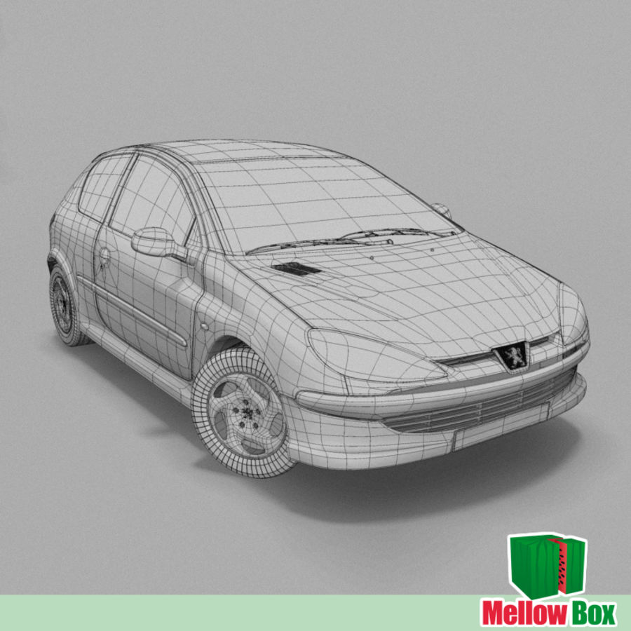 Peugeot 206 royalty-free 3d model - Preview no. 3