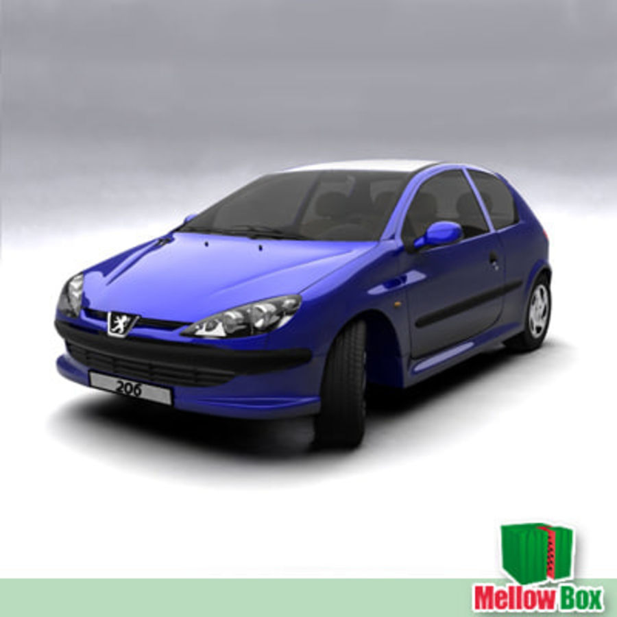 Peugeot 206 royalty-free 3d model - Preview no. 7