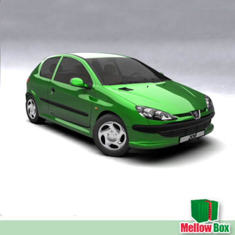 Peugeot 206 royalty-free 3d model - Preview no. 9