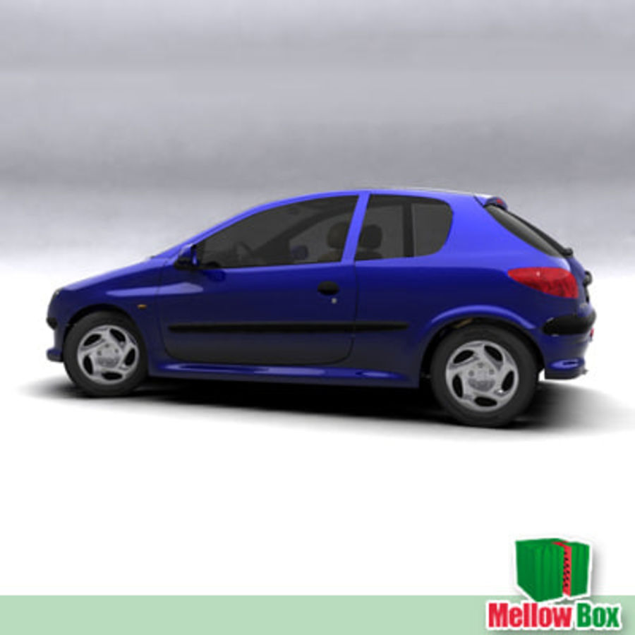 Peugeot 206 royalty-free 3d model - Preview no. 6