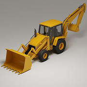 Backhoe loader HPV 3d model