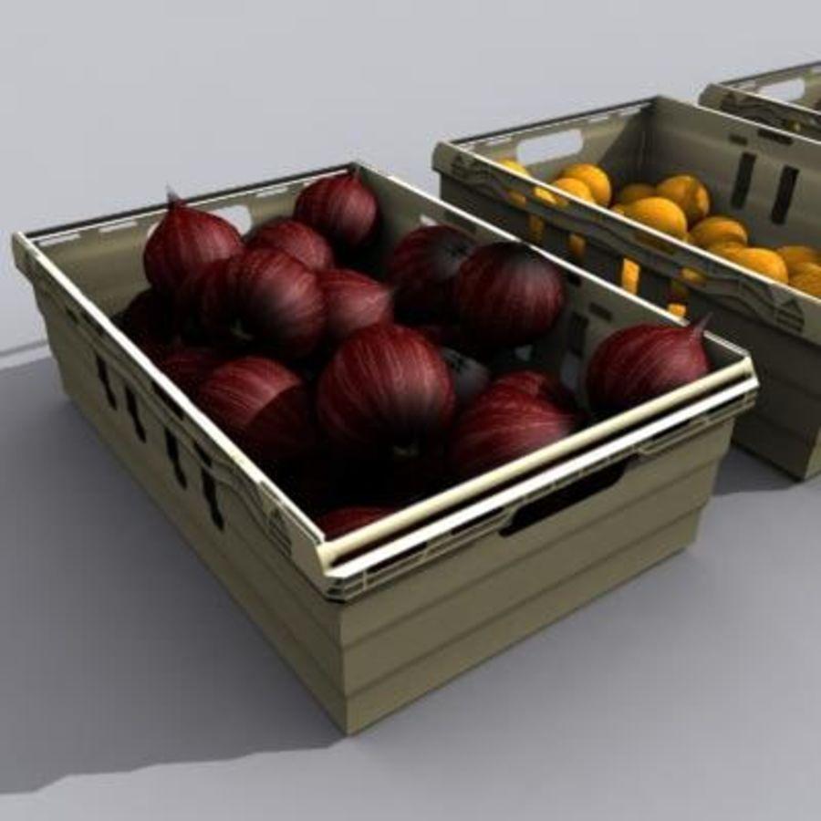 과일과 채소 상자 royalty-free 3d model - Preview no. 15