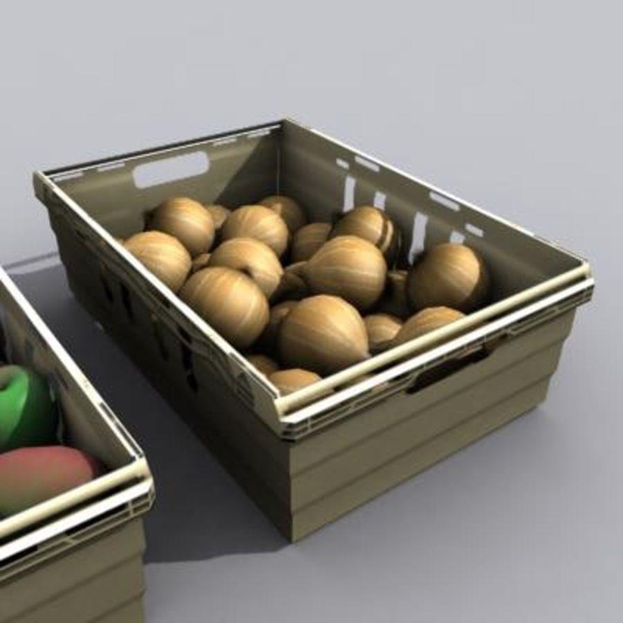 과일과 채소 상자 royalty-free 3d model - Preview no. 11