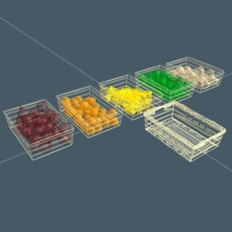 과일과 채소 상자 royalty-free 3d model - Preview no. 17