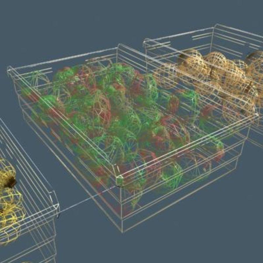 과일과 채소 상자 royalty-free 3d model - Preview no. 2