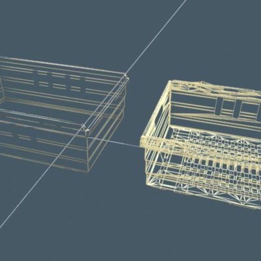 과일과 채소 상자 royalty-free 3d model - Preview no. 6