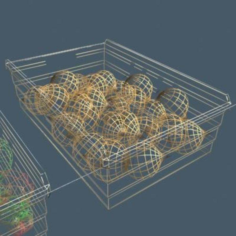 과일과 채소 상자 royalty-free 3d model - Preview no. 10