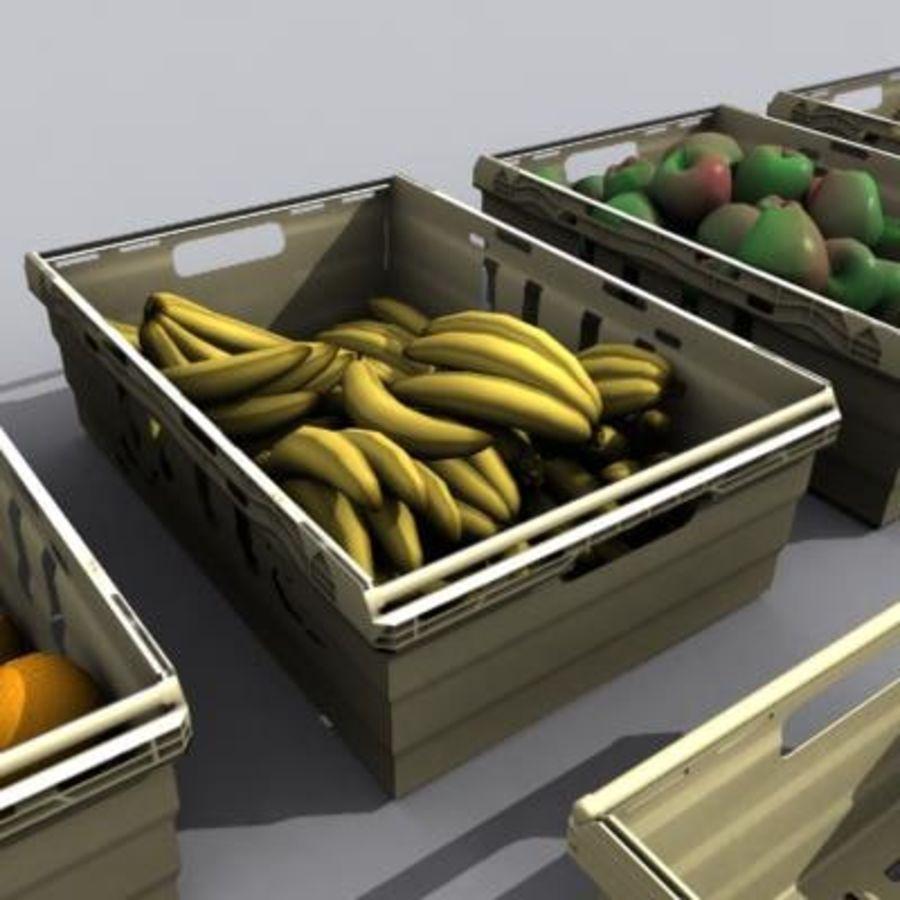 과일과 채소 상자 royalty-free 3d model - Preview no. 5