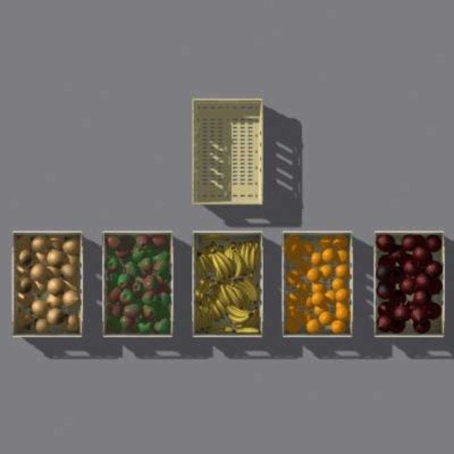 과일과 채소 상자 royalty-free 3d model - Preview no. 16