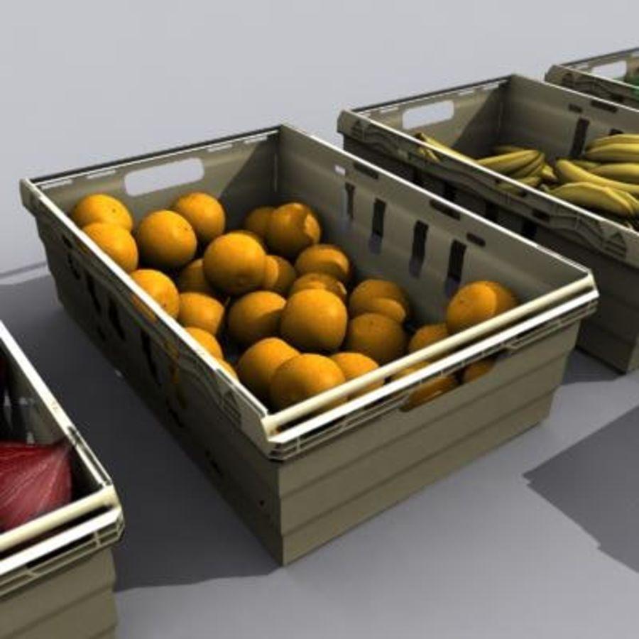 과일과 채소 상자 royalty-free 3d model - Preview no. 13