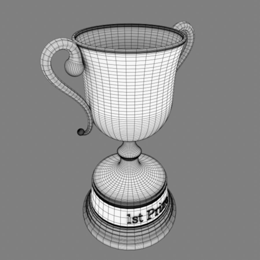 Trophy B royalty-free 3d model - Preview no. 7