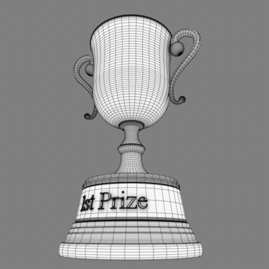 Trophy B royalty-free 3d model - Preview no. 13