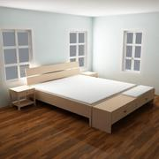 Bett Königin 3d model